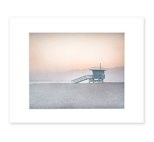8x10 Matted Print Venice Beach Lifeguard Tower Coral