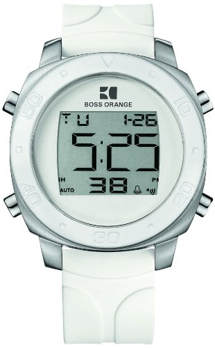 BOSS ORANGE White Rubber Digital Mens Watch 1512677
