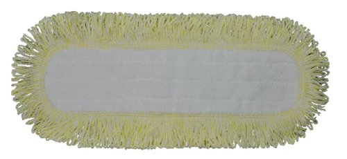 Industrial and Commercial Microfiber Dust Mop Pad (18 In. Border, Yellow)