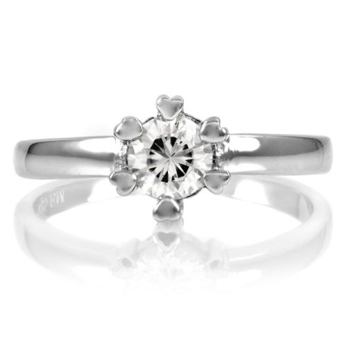 Andy's Promise Ring - Heart Prong CZ - .75 Ct .925 Sterling Silver Jewelry Size 5
