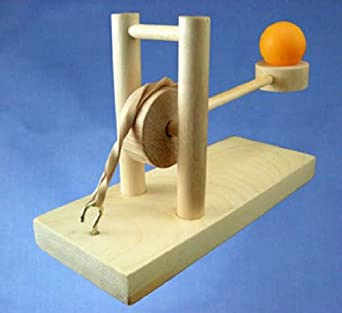 Wood Catapult Kit Long Shot Launcher: Science Gifts