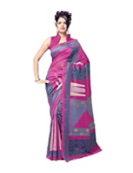Saran's Exclusive Printed Art Silk Designer Saree - B00PXTCXY4