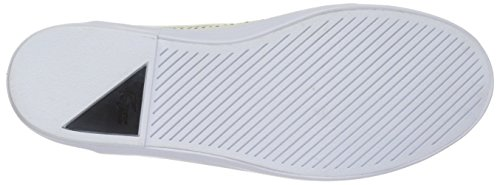 Lacoste Women's Cherre 216 1 Flat, Off White/Black, 9.5 M US