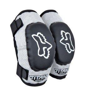 Fox Racing FOX TITAN KIDS ELBOW GUARDS BLACK/SILVER MD/LG AGES 6-9