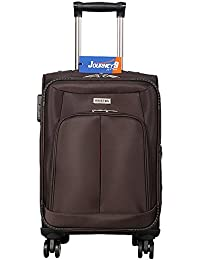 Journey9 Polyester Kingston Brown 20inch & 28inch(SET OF 2 PC) Soft Sided Carry On 04 WHEELER