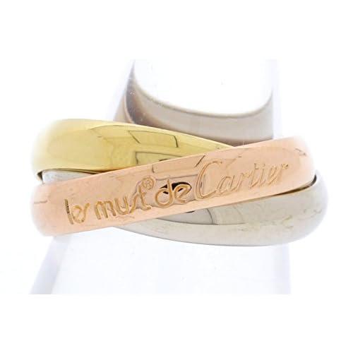 [カルティエ] Cartier トリニティ ドゥ カルティエ リング 指輪 スリーカラー K18 750 YG WG PG ゴールド #49 B4052749