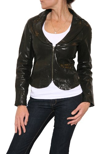 Women's Elizabeth and James Leather Corset Jacket in Black