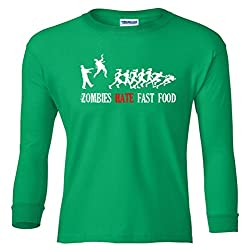 Zombies Hate Fast Food Youth Long Sleeve T-Shirt