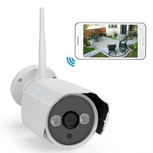 IdeaNext HD 720P Wireless WiFi Bullet IP Camera Outdoor Waterproof Surveillance Network Camera for Smartphone/Tablet/PC with IR Night Vision P2P 8GB ROM Motion Detection Email Alert Remote View