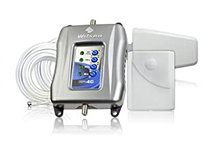 Wilson Electronics DB Pro 4G Indoor 4G Cellular Signal Booster Kit for The Entire Home - Retail Packaging - Silver