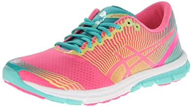 ASICS Women's Gel-Lyte33-3 Running Shoe,Flash Pink/Lime/Green,7.5 M US