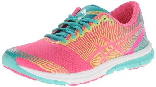ASICS Women's Gel-Lyte33-3 Running Shoe,Flash Pink/Lime/Green,10 M US ASICS B00D86J8UG
