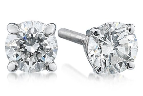 5/8ct Round Diamond Solitaire Earrings in Platinum