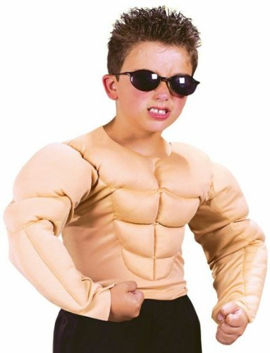 Fun World Boys Bodybuilder Muscle Shirt Kids