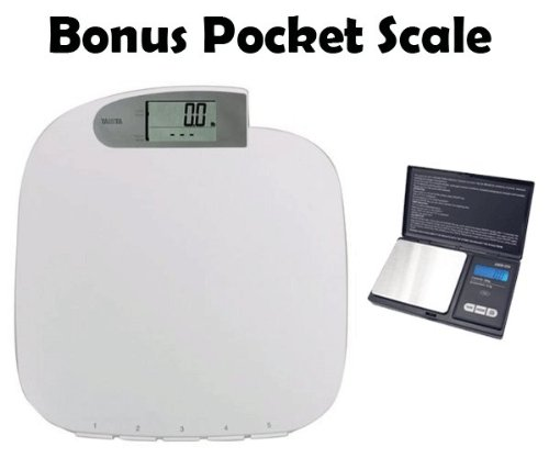 Cheap Tanita HD351 440lb Large Capacity Digital Scale with Memory Function and Bonus 600g x 0.1 gram Digital Food Pocket Scale (HD351 HD6G)