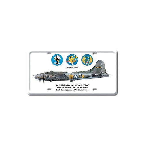 B-17 Flying Fortress Vintage Metal License Plate Sign Military 6X12Steel Not Tin