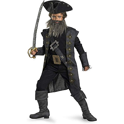 Blackbeard Pirate Deluxe Tween Costume - 12-14