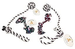 Everlast Pet Toys | Best Rope Chew & Pull Toy Bundle for Dogs | 2 - Knotted Ball Pullers | 2 - Multi-colored Knotted Ropes | Guaranteed | Top Rated - #1 Seller | All Breeds of All Ages & Sizes