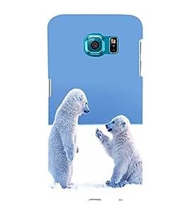 printtech Snow Polar Bears Back Case Cover for Samsung Galaxy S6::Samsung Galaxy S6 G920