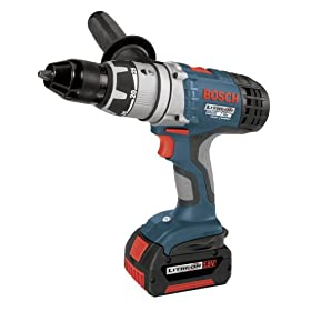 Bosch 17618-01 18-Volt 1/2-Inch Brute Tough Litheon Hammer Drill/Driver with 2 Fat Batteries