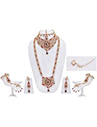 Maroon Star Bridal Jewellery Set