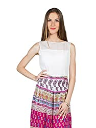 Panit Women's Georgette Dress (PANI31A_Pink_X-Large)