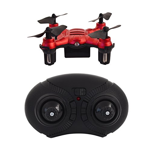Hover-Way 6 Axis 2.4 GHZ Aerial Micro Drone with Built In Battery- Pocket Size Red (Wireless Usb Dj Controller compare prices)