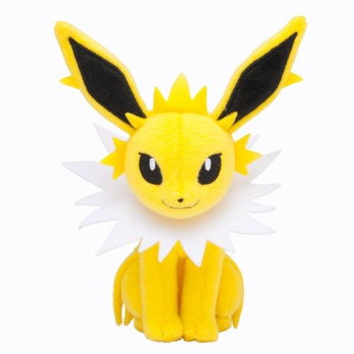 Pokémon Center Original Plush Doll Sitting Trick Pose Jolteon