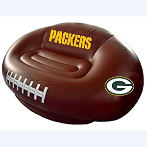 Green Bay Packers Inflatable Football Sofa Furniture Decor