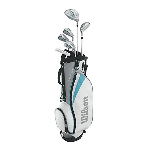 Wilson Women's Profile Junior Complete Package Golf Set, Right Hand, Teal, Large