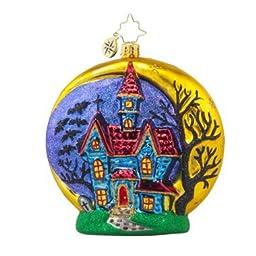 RADKO HALLOWEEN CHATEAU Haunted House Glass Ornament by Christopher Radko