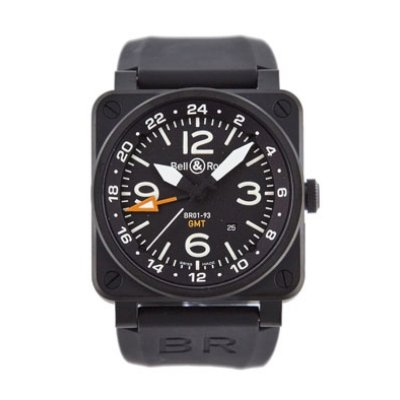 Bell & Ross Men's BR-01-93-GMT Aviation Black GMT Dial Watch Watch