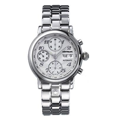 Montblanc Star Classic Silver Dial Automatic Chronograph Mens Watch 5222