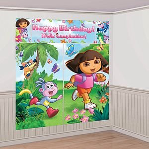 Dora the Explorer Scene Setter Decoration Set (Green/Blue) Party Accessory