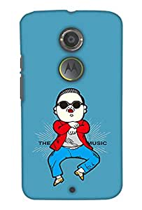 Print Haat Back Case Cover for Moto X2 (Multicolor)