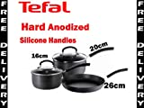 Tefal Expert Cook Hard Anodised 3 Piece Saucepan set