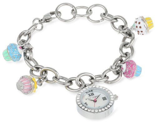 Betsey Johnson Women's BJ00218-01 Analog Cup Cake Charms Watch