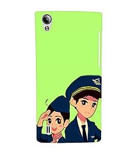 EPICCASE Pilot and air hostess Mobile Back Case Cover For Vivo Y15 (Designer Case)