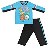 Sweet Dreams Boys' T-Shirt and Lower (SH 731_2, Blue and Black, 2)