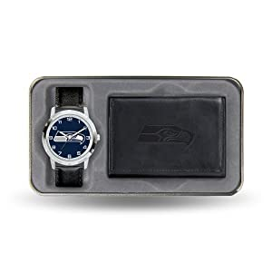 Brand New Seattle Seahawks NFL Mens Watch & Wallet Gift Set by Things for You