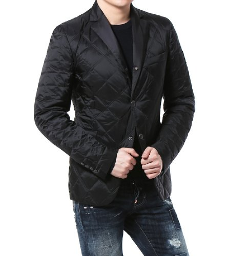 Moncler Moncler Men's Quilted Padded Blazer Black 3 (IT) M-L (US)