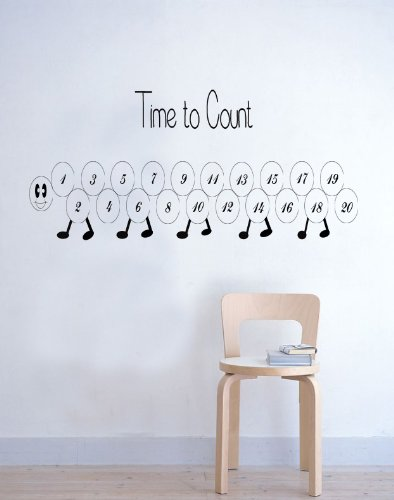 Time To Count Childrens Kids Learning Wall Sticker Nursery Bedroom Playroom 100X55 Ck front-469704