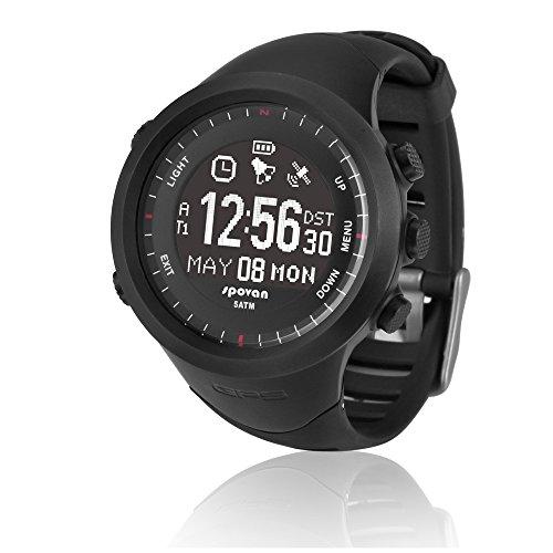 Peleustech® Spovan Gl004 50M Waterproof Bluetooth 4.0 Hrm 3D Pedometer Gps Compass Sports Wrist Watch