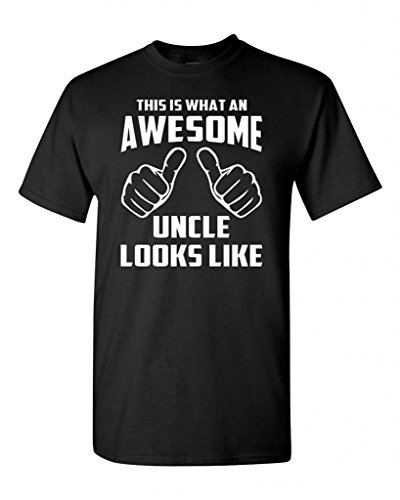 [This is What an Awesome Uncle Looks Like Black Adult T-Shirt Tee (Large, Black)] (Sexy Men In Uniform)
