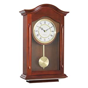 london clock solid wood walnut finish traditional