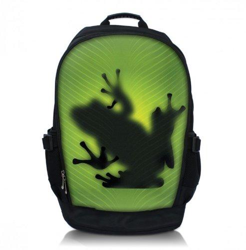 MySleeveDesign Zaino da spalla con scomparto per pc portatile -Per ragazze ragazzi e bambini - DIVERSE FANTASIE - Frog