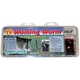 Walking Worm 64 Piece Fishing Lure Kit