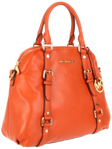 Michael Michael Kors Bedford Large Bowling Satchel, Burnt Orange