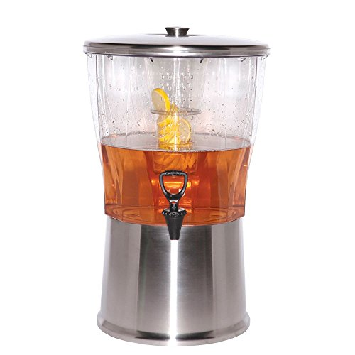 Service Ideas CBDRT5SS Beverage Dispenser, BPA Free, Stainless Steel, Round, 5 gal (Steel Drink Dispenser compare prices)