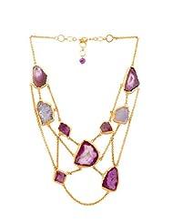 Zariin Choker Necklace For Women (Pink) (NPS060APU)